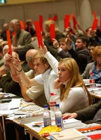 Et stort flertall stemte for én nestleder i Ap. (Foto: Terje Bendiksby, Scanpix)