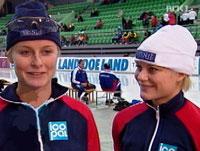 Anette (t.v.) og Hedvig Bjelkevik (foto: NRK)