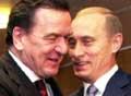 Putin og Schrøder er enige. (Arkivfoto)