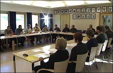 Møte i kommunestyret i Gulen. (Foto: NRK)