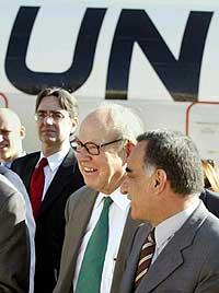 FNs sjefinspektør Hans Blix ankom Irak mandag. (Foto: Reuters/Faleh Kheiber)