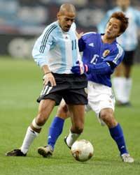 Veron er en av bjærebjelkene på det argentiske landslaget.