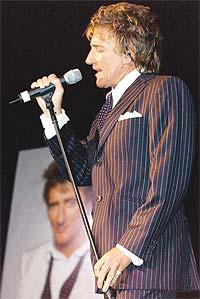 Rod Stewart under lanseringen av plata It Had To Be You - The Great American Songbook. Foto: Robert Mora / Getty Images.