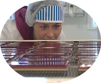 Nam! godisar på sjokoladefabrikken