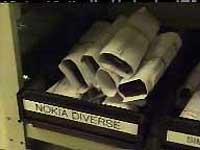 Det er Nokia-hyllen som har flest ødelagte telefoner.