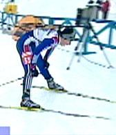 En sliten Zaitseva etter målpassering