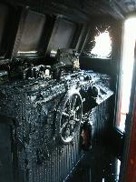 Omfattende skader etter brannen. Totalskade mener forsikringsselskapet. Foto: Gunnar Sandvik