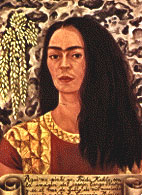 Frida Kahlo utståler kraft, men også sorg og smerte.