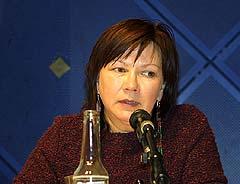 - Jeg vil gjerne dele av min erfaring med det å jobbe med min musikk sier Mari Boine. Foto: Tone Donald, NRK.