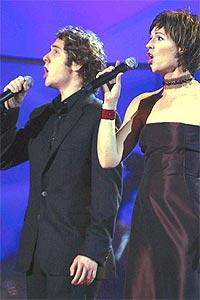 - Jeg har ønsket å synge med Sissel i mange år, sier Josh Groban til NRK. Onsdag gikk ønsket i oppfyllelse. Foto: Knut Fjeldstad / SCANPIX.