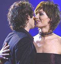 Kanskje det kan bli flere hjertelige musikalske møter mellom Josh Groban og Sissel? Foto: Erlend Aas / SCANPIX.