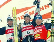 Frode Estil flankert av Anders Aukland og svenske Mathias Fredriksson. (Foto: Erik Johansen/scanpix)