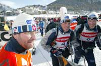 Den norske landslagstreneren Carl Henning Gran var minst like blid som de norske dobbeltvinnerne. (Foto Erik Johansen/scanpix)