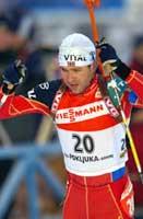Ole Einar Bjørndalen så knapt en konkurrent under hele løpet.