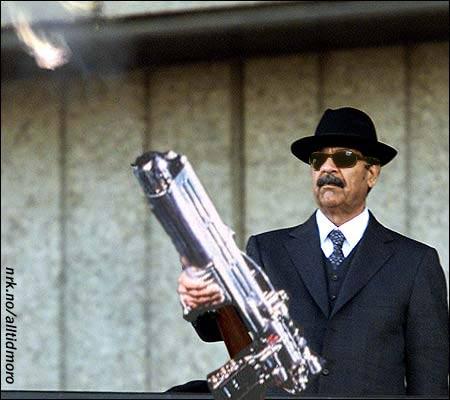 """De fleste irakere var enige om at livet ble enda vanskeligere etter at Saddam fikk se """"Men in Black""""."""