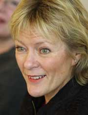 Undervisningsminister Kristin Clemet er glad for samrbeidet med SV. (Scanpix-foto)