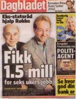 Dagbladets første oppslag 4. desember.