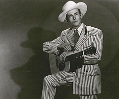 Hank Williams døde av hjerteslag nyttårsaften 1952/53. Foto: Hank Williams Fan Club.