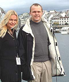 Marit Giske og Kåre Fostervoll fra styret i Ungjazz var fulle av optimisme før fjorårets festival. Men økonomien fikk seg en knekk. Foto: Øyvind Haram, NRK.