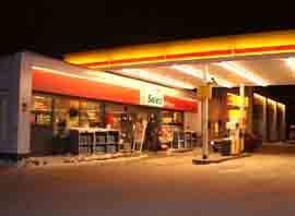 Shell-stasjonen i Porsgrunn ble ranet med kniv 6. januar.