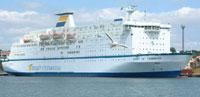 """Fjord Line sitt """"nye"""" skip ble kjøpt i Australia i fjor og satt inn på danmarksruten mellom Bergen og Hanstholm i vår. (Arkivfoto)"""