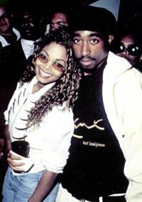 Janet Jackson og 2Pac for mange år siden. Foto: Tupacshakur.com
