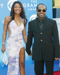 Jermaine Dupri og date på Grammy Awards 2002. Foto: Getty Images