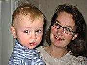 Kate Borgen med sønnen Thomas