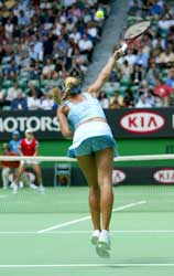 Anna Kournikova klarte bare å vinne et servegame. (Foto: Sean Garnsworthy/Getty Images).