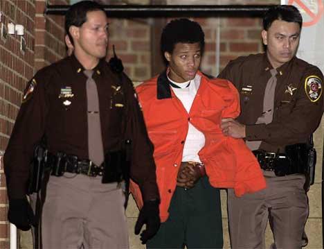 John Lee Malvo risikerer dødsstraff. (Foto: Scanpix/Reuters/Mike Theiler)