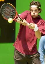 Andreas Vinciguerra var siste gjenværende svenske i Australian Open. (Foto by Robert Cianflone/Getty Images)
