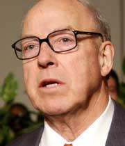 Bush heldt pressekonferansen eit halvt døgn før sjefen for våpeninspektørane, Hans Blix, skal leggje fram ein ny rapport for Tryggingsrådet. (Foto: Getty Images)