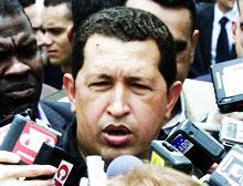 President Hugo Chavez nekter å bøye seg for krav om hans avgang. (Foto: Getty Images)