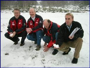 Tore Witsø, Svein Olav Blikås, Audun Nerland og Arild Monsen lover ski-NM på Skaret tross snømangel