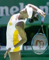 Venus Williams har selv fartsrekorden på 205 km/t fra Zurich i 1998. (Foto: David Gray/reuters)