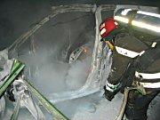 Bilen som eksploderte på Åssiden i Drammen 23. januar.