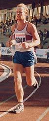 Oslo maraton 1984: Espen inn på Bislet stadion