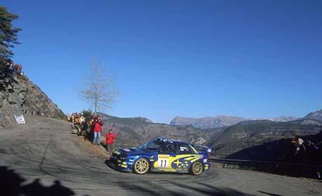 Petter Solberg, Rally Monte Carlo 2002 (Foto: Subaru World Rally Team)