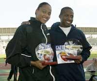 Marion Jones og Tim Montgomery anklages for doping.