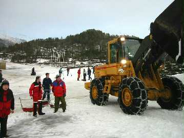 Snømangel under siste NM på Skaret, men det holdt. Foto: Gunnar Sandvik
