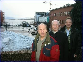 Hilmar Windstad i MOI, ordførar Rolf Myhre og Frank Lien i Molde Kunnskapspark vil ha næringslivet til å møte idrettskjendisar.