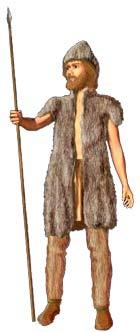En typisk steinalder-mann