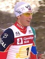 Lars Berger gikk inn til sitt andre NM-gull på to dager (Foto: NRK)