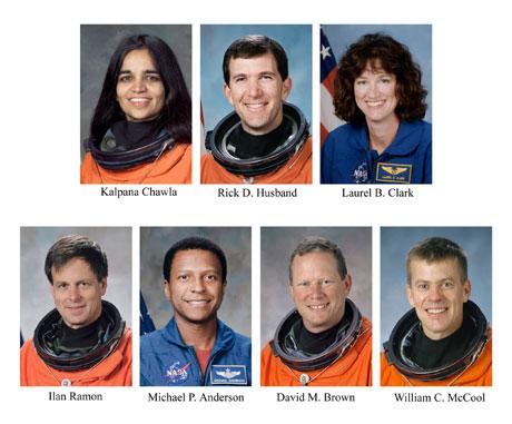 De sju astronautene om bord var sjanseløse da romfergen gikk i oppløsning. (Foto: Reuters/Scanpix)