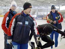 Jan De Kook, Eskil Ervik og Øystein Grødum under treningen i Gøteborg (Foto: Knut Fjelstad/scanpix)