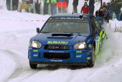 Det var kaldt i Sverige under testkjøringen forrige uke. ( Foto fra VM-runden i Sverige 2003 )