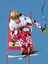 Janica Kostelic ble nummer 12 i utfordelen.(Foto: Marcus Gyger/Reuters)
