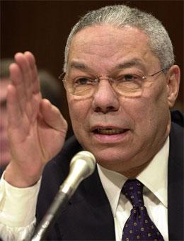 Colin Powell sa etter møtet med kinesiske tjenestemenn at han trodde kineserne hadde en klar forståelse av de amerikanske interessene.