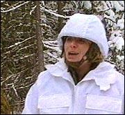 Anne-Kat. er klar for Ola Soldat i full vinterkammo