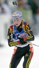 Martina Glagow gjorde jaktstarten spennende da hun bommet på siste stående. (Foto: Ola A. Thorset/Scanpix)
